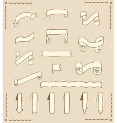 Set of ribbons and tags vector