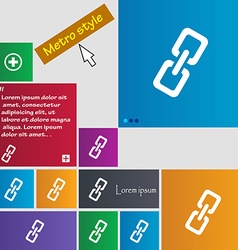 Link icon sign buttons modern interface website vector