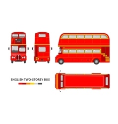 English red double decker bus vector