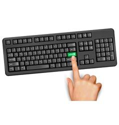 keyboard education learn vector image