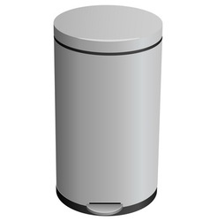 Closed trash can vector