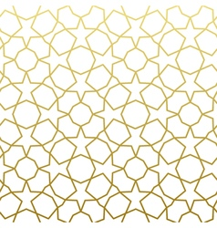 Arabic pattern gold style traditional arab east vector