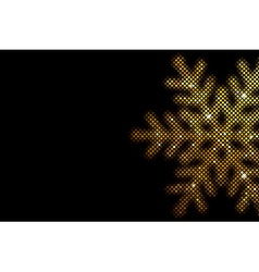 Background with glowing snowflake mosaic vector