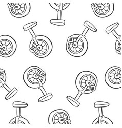 Bike hand draw doodle style vector