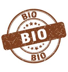 bio brown grunge round vintage rubber stamp vector image