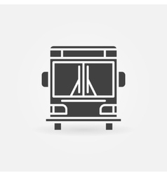 Bus icon or logo vector