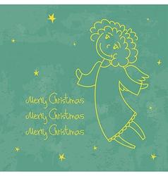 Christmas angel card1 vector