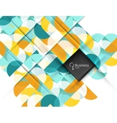 Circle and triangle abstract background vector