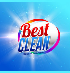 Cleaning product or laundry detergent packaging vector