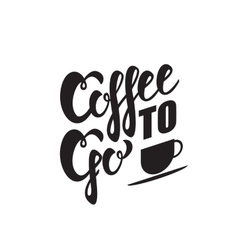 Coffee to go sign vector