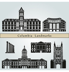 Columbia landmarks and monuments vector image vector image