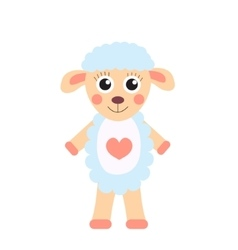 Cute cartoon character sheep children s toy sheep vector