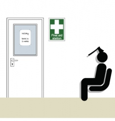 first aid station vector image vector image