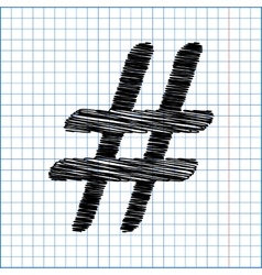 Hashtag sign Flat style icon vector image vector image