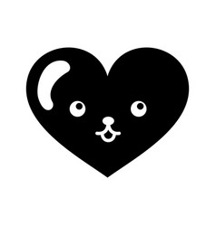 Heart love kawaii character vector