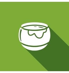 Honey pot icon vector image