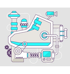 Industrial of the mechanism of sneaker colo vector