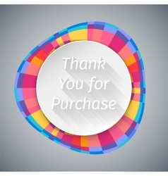 Low poly round thank you banner vector