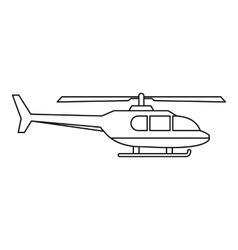 Military helicopter icon outline style vector image vector image