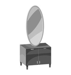 Mirror icon gray monochrome style vector