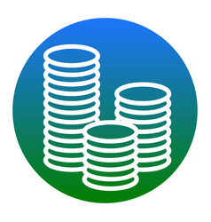 Money sign white icon in vector