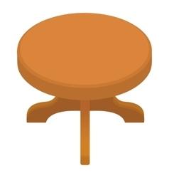Round table icon cartoon style vector