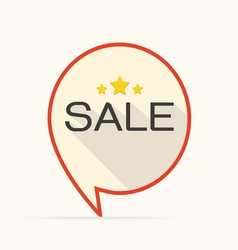 Sale flat design icon for business vector image