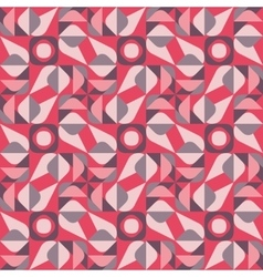 Seamless geometric square triangle circle vector
