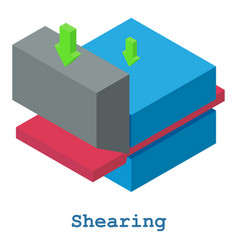 Shearing metalwork icon isometric 3d style vector