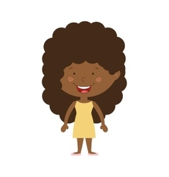 Silhouette afro girl with dress vector