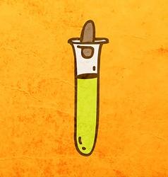 Test Tube Cartoon vector image vector image