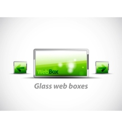 web boxes vector image vector image
