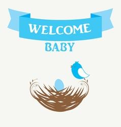 Welcome baby vector