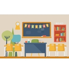 Literature classroom interior in school or college vector