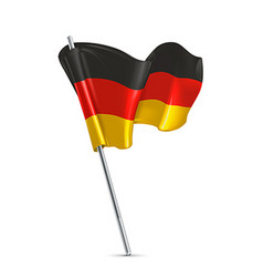 Flag of Germany 3d icon vector image
