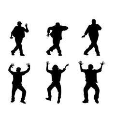 Six dancing teenagers vector