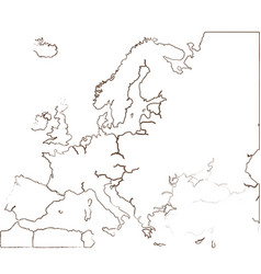 Isolated map of europe vector