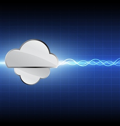Cloud computing technology background vector
