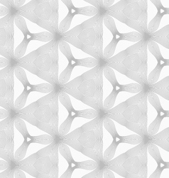 Slim gray hatched small trefoils and triangles vector