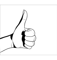 Thumb up BW vector image
