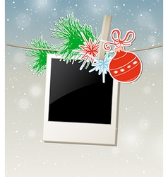 Christmas background with photo vector