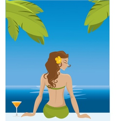 summer girl vector image
