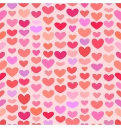 Seamless saint valentine heart pattern vector