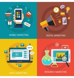 Business banners internet  mobile digital vector