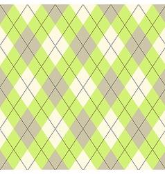 Seamless argyle pattern Diamond shapes background vector image