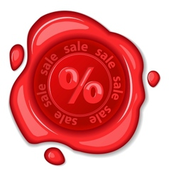 Sale wax seal vector