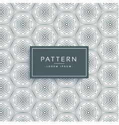 Abstract hexagonal line pattern background design vector