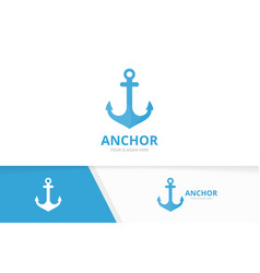 Anchor logo combination marine and vector