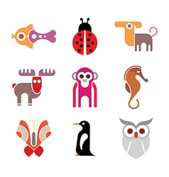 Animal icon set vector image