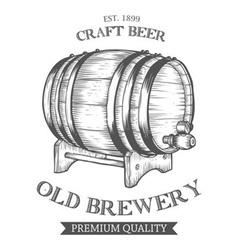 Barrel of Beer Drawing vector image vector image
